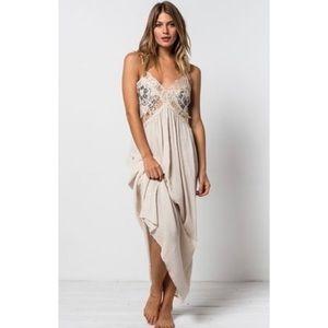 Revolve Tularosa Huntley Lace Maxi Dress in Cream